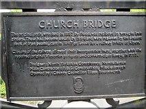TA1181 : Plaque  on  the  footbridge  over  Church  Ravine by Martin Dawes