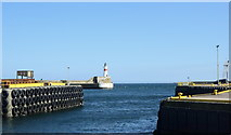 NK0066 : Fraserburgh harbour entrance and lighthouse by Bill Harrison