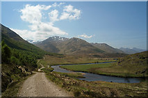 NH1420 : Descending to Athnamulloch on the Affric Kintail Way by Julian Paren