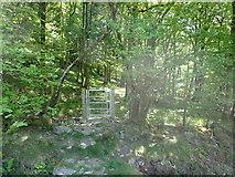 SH9035 : Waymarked gate by Eirian Evans
