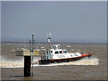 TA2711 : Humber pilot boat speeding away from Grimsby Docks by Graham Hogg