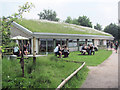 SP9313 : The flower-covered Visitor Centre at College Lake by Chris Reynolds