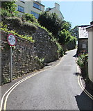 SX2553 : Width limit sign, Shutta Road, Looe by Jaggery
