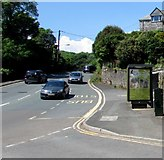 SX2553 : Station Road bus stop and shelter, Looe by Jaggery