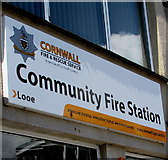 SX2553 : Community Fire Station nameboard, Looe by Jaggery