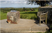 ST7581 : Cotswold Way Seat by Church, Old Sodbury, Gloucestershire 2011 by Ray Bird