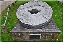 TG1508 : Bawburgh: Millstone from Bawburgh Mill after it closed in 1968 by Michael Garlick