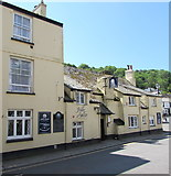 SX2553 : Jolly Sailor, Princes Square, West Looe by Jaggery