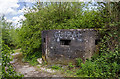 SJ9170 : WWII Cheshire: Lyme Green pillbox, Macclesfield Canal (2) by Mike Searle