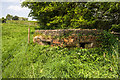 SJ9363 : WWII Cheshire: Hugbridge Farm pillbox (1) by Mike Searle
