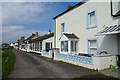 NY0842 : Cottages in Allonby by Anne Burgess