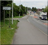 SO9233 : Ashchurch Primary School and Village Hall direction sign by Jaggery