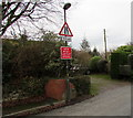 SO7225 : Two signs on a Culver Street lamppost, Newent by Jaggery