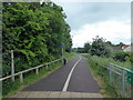 ST4552 : Footpath and Cycle Lane on the former Cheddar Valley Railway by PAUL FARMER