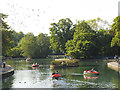 SE1535 : Boating lake in Lister Park  by Stephen Craven