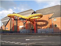 SO8984 : Waterslide at Stourbridge Leisure Centre by David Howard