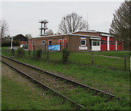 SO6303 : Trackside view of Lydney Community Fire and Rescue Station  by Jaggery