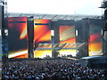 SP3483 : Giant video screens at the Ricoh Arena by Graham Hogg