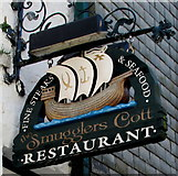 SX2553 : Smugglers Cott Restaurant name sign, East Looe by Jaggery