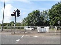 SP4541 : Pedestrian crossing on Hennef Way, Banbury by David Howard