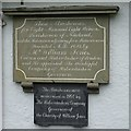 SO5509 : Inscribed tablets on almshouses by Philip Halling