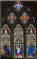 TA0489 : Stained glass window (partial), St Mary's church, Scarborough by Julian P Guffogg