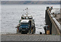 NG7600 : Reverse-on Roll-off car ferry at Inverie by Andy Waddington