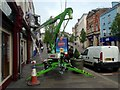 H4572 : Cherry picker, High Street, Omagh by Kenneth  Allen