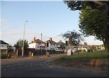 SJ9102 : Elston Hall Lane at the corner of Fordhouse Lane by David Howard