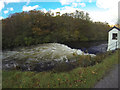NM7682 : Gauging weir on the River Ailort by Andy Waddington