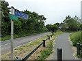 TQ5807 : Cuckoo Trail at Junction with Ersham Lane by PAUL FARMER
