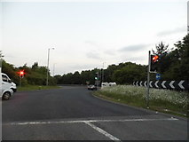 SP0373 : Roundabout at J2 of the M42, Alvechurch by David Howard
