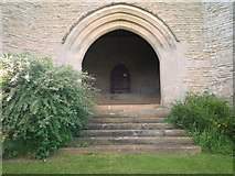 SO4970 : Entrance to All Saints Church (Bell Tower | Richards Castle) by Fabian Musto