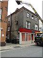 TM5593 : Curley Corner, once the 'Lion Inn', Lowestoft High Street. by Adrian S Pye