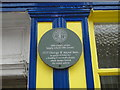 TM5593 : Grey plaque in Lowestoft High Street with royal connections by Adrian S Pye