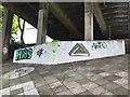NT9952 : Graffiti under the Royal Tweed Bridge by Jonathan Hutchins
