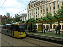 SJ8397 : St Peter's Square tram stop (2) by Carroll Pierce