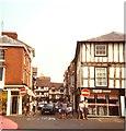SO5174 : Looking up High Street, Ludlow, 1984 by Niki Walton