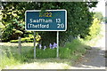 TF6203 : Roadsign on the A1122 Bexwell Road by Adrian Cable