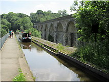 SJ2837 : Chirk aqueduct and viaduct by John H Darch