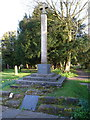 SP0979 : Yardley Wood War Memorial in the churchyard by Richard Law