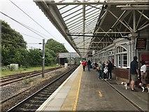 NT9953 : Platform 2 at Berwick Station by Jonathan Hutchins