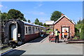 SJ2823 : Refreshment carriage at Llynclys by Richard Hoare