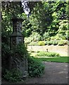 TG2208 : The Plantation Garden - small folly beside the path by Evelyn Simak