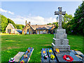 SD7914 : Summerseat Methodist Church and School, War Memorial by David Dixon