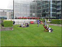 TQ3280 : Roof garden, Nomura, Angel Lane, City of London by David Hawgood