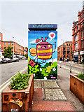 SJ8498 : Bee on the Toilets at Stevenson Square by David Dixon
