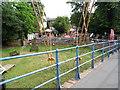 TQ1671 : Cables holding up Teddington footbridge by David Howard