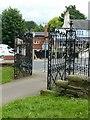 SK4837 : Churchyard gates, Stapleford by Alan Murray-Rust