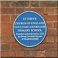 SK4937 : Blue plaque, St John's Primary School by Alan Murray-Rust